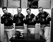 Stan Mikita,Pierre Pilote,Reg Fleming,Elmer Vasko Chicago Black Hawks 8x10 Photo