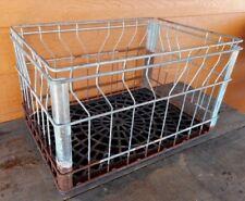 Wire Milk Crate Metal Dairy Gillette Primitive flea market decor FARM Country