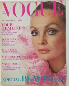 1970 Vogue magazine front cover only womens blue eyes vintage beauty