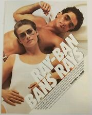 1984 Magazine Print Ad Bausch Lomb Ray-Bans Raybans/2pg Ford Motors Vintage Vtg