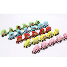 Wooden Train Playset Magnetic Train Carriges Cars Alphabets Set for Kids