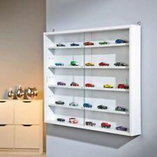 White Collectors Glass Vitrine Display Cabinet Collection Storage Wall Mounted 5
