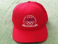 2000 Olympic Summer Games Sydney Trucker Baseball Hat Red USA Cap