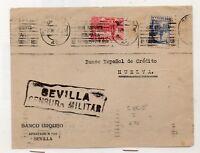 España Frontal Circulado Sevilla Huelva con Censura Militar año 1937 (DO-864)