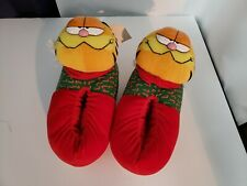Rare Garfield Christmas Slippers Size Medium 7/8 (1991) New Excellent Condition