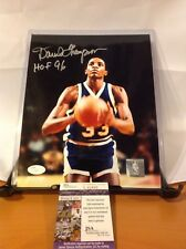 HOF Basketball David Thompson Autographed 8x10 Photo JSA Certified