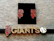 San Francisco Giants earring and bling bling bracelet set