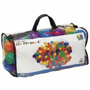 "Intex ""Phthalate Free"" EP Version Fun Ballz Pit 100 Ball Pack with carry bag"