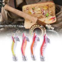 4Piezas luminoso camarones cebo calamar camarón jigging señuelos noche amanecer