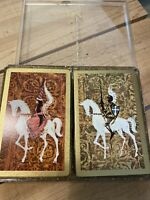 Vintage Stancraft Playing Cards Double Deck Knights & Damsel Horses
