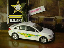 US ARMY Greenlight 13 CHEVY CRUZE✰White;POLICE Fort Bragg✰Loose✰2016 Motor World
