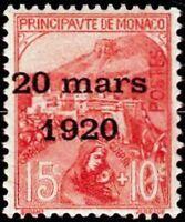 "MONACO STAMP TIMBRE N° 39 "" MARIAGE PRINCESSE CHARLOTTE 15C+10C "" NEUF xx TTB"