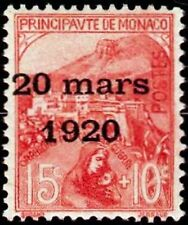"MONACO STAMP TIMBRE N° 39 "" MARIAGE PRINCESSE CHARLOTTE 15C+10C "" NEUF xx LUXE"