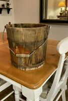 Vintage White Mountain Wooden Ice Cream Freezer Bucket