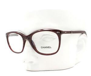 Chanel 3252 1410 Eyeglasses Glasses Dark Red Gray Mix / Silver CC Logo 51-18-140