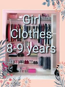 Girl Clothes Make Your Own Bundle Size 8-9 years Dress Coat Jeans Legging Blouse