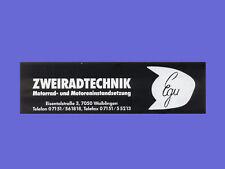 [EGU] - Aufkleber - EGU - Zweiradtechnik - schwarz