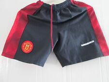 "Manchester United 1996-1997 Home Football Shorts 28"" Waist /bi"