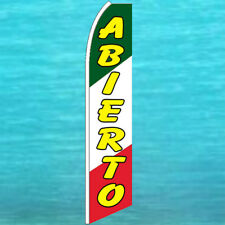 Abierto Open Flutter Flag Tall Curved Advertising Sign Feather Swooper Banner