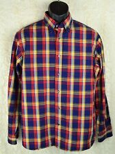 Land's End Men's Plaid Dress Shirt Long Sleeves Size Medium 100% Baumwolle I-53