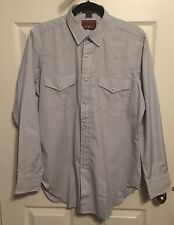 NWOT RED RIVER Western Men's Shirt, Medium, Neiman Marcus Collection, Light Gray
