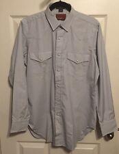NWOT RED RIVER Western Men's Shirt, Medium, Light Gray, Neiman Marcus Collection