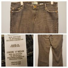 Levi Strauss Signature Jeans Juniors 17 Low Rise Slim Bootcut Zippered Fly