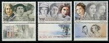 Israel: 1991 Famous Women (1076-1078) With Tabs MNH