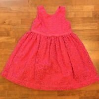 Janie and Jack Embroidered Dress Girls Size 2T Toddler Pink Party Floral Spring