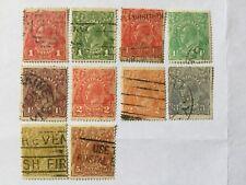 Australia 10 KGVII Old Stamps-