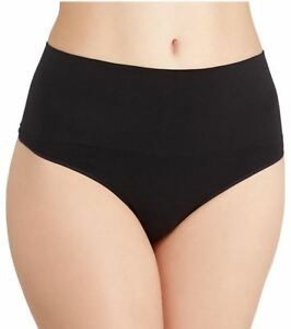 SPANX Everyday Shaping Panties Thong  Black Sizes  S M L New With Tags