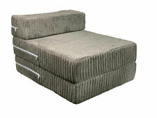 FoldOut Futon Single Guest Z Bed Jumbo Cord Folding Foam Mattress Z Bed CHARCOAL