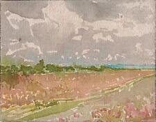 ENGLISH LANDSCAPE Watercolour Painting MARCUS ADAMS c1950 IMPRESSIONIST