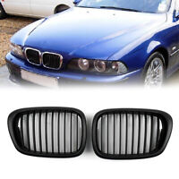 Front Fence Grill Grille ABS Matt Black Mesh For 2001-04 BMW 5-Series E39 C/A5