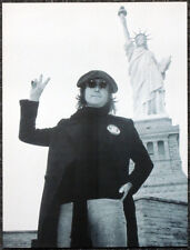 THE BEATLES POSTER PAGE . 1974 JOHN LENNON STATUE OF LIBERTY NEW YORK CITY .I86