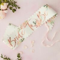 Rose Gold Floral Bride To Be Sash Pink Hen Party Decorations Blush Bachelorette