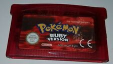 Jeu Game Boy Advance GBA POKEMON VERSION RUBIS version Française