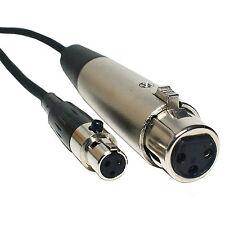 1.5m m 3-polig XLR Sockel zu Mini XLR weiblich Mikrofon cable-headset