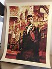 Mass Incarceration by Shepard Fairey   Obey Giant rare Johnny Cash screenprint