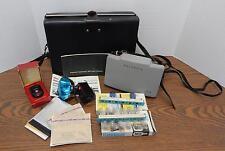 VTG 1960s Polaroid Land Camera 103 & Flashgun Kit with GE PR-22 Exposure Meter