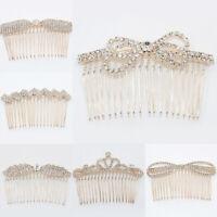 Women's Hair Comb Hair Clip Rhinestones Slide Hair Pins Jewelry Headwear
