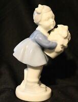 """#5623 Gerold Porzellan Bavaria Porcelain """"Girl w/Flowers""""Figurine,W. Germany"""