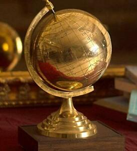 Globus … komplett Messing … Dekorativ … 17cm hoch … Ø 8cm … 440g … Antik-Stil