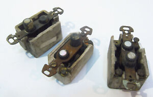 LOT of 3: Two-button Toggle Lightswitches Vintage Bakelite Mother-of-Pearl