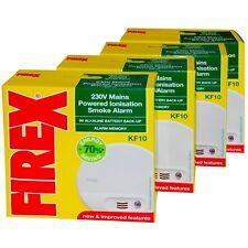 4 x Kidde Firex  KF10 Mains Smoke Alarm Detector replaces KF1 4870 -  SENKF10