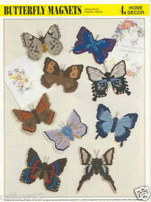 Butterfly Magnets # 2  ~ plastic canvas pattern ~ Annie's