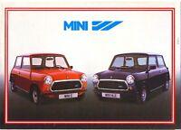 Mini E & HLE 1983 French market sales brochure