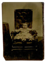 TINTYPE YOUNG CHILD ON OVERSIZED CHAIR