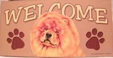 Welcome Chow Chow Dog Breed Wood Sign/Plaque