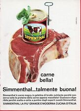 Pubblicità Advertising Werbung 1966 carne in scatola SIMMENTHAL
